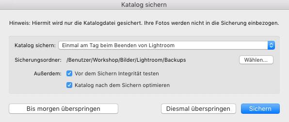 lightroom katalog optimieren und sichern