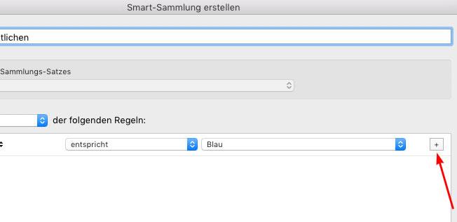 zweite regel smart-sammlung hinzufügen